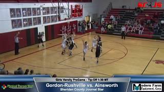 BASKETBALL ENTIRE GAME - Gordon-Rushville vs Ainsworth - Full Commentary - FREAM Sports