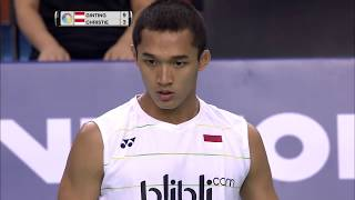 Victor Korea Open 2017 | Badminton F M3-MS | Anthony Sinisuka Ginting vs Jonatan Christie