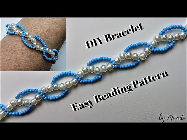 Beaded bracelet  Easy beading tutorial  Diy bracelet  simple beading pattern