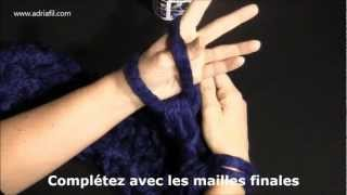 Magia fil à tricoter Adriafil - Echarpe realisée avec la technique du Fai da te