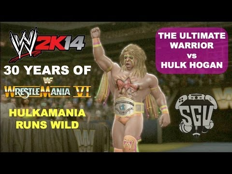 WWE 2K14: 30 Years of Wrestlemania (EP7) - The Ultimate Warrior vs Hulk Hogan