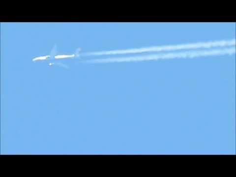 ✈✈✈Aircraft Contrails Compilation -- Includes B787 Dreamliner, A330, B777, B747, B757✈✈✈
