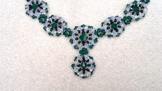 Beading4perfectionists : Swarovski Emerald and AB coloured necklace beading tutorial