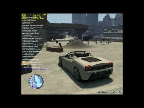 GTA IV EFLC GAMEPLAY TEST Sport cars and native trainer 6.0