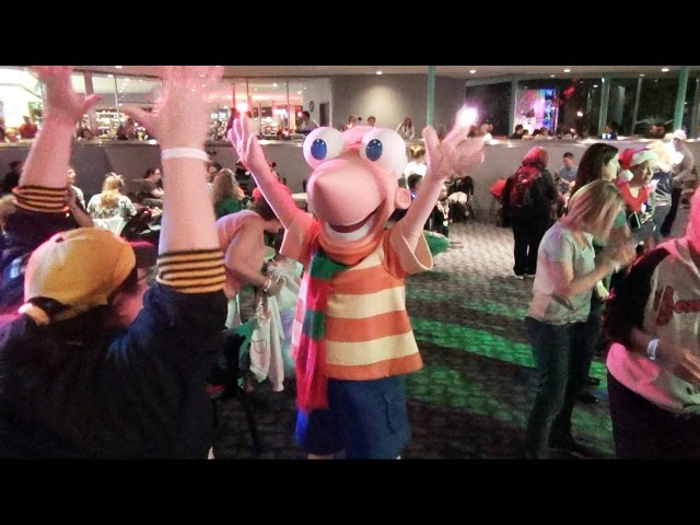 Phineas and Ferb Dance at Club Tinsel, Mickey's Very Merry Christmas Party - Magic Kingdom