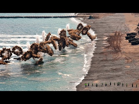 US and S. Korean Military Storm Simulated North Korean Beach