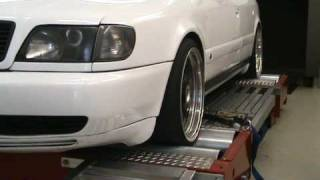 Audi 100 2.5 5 Zylinder TDI 252 HP on dyno - wheel