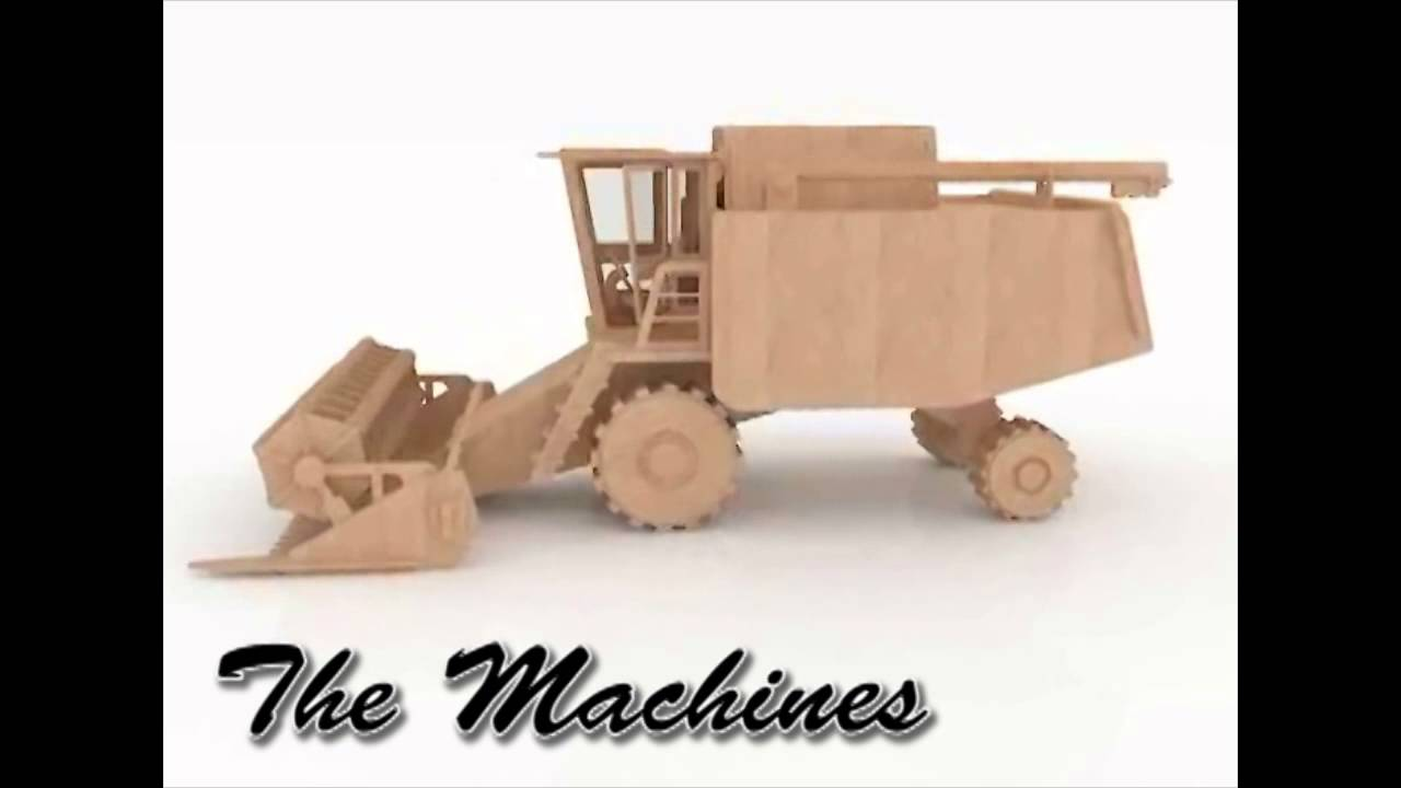 Combine Harvester 3d puzzle wood toy plans for CNC router or laser ...