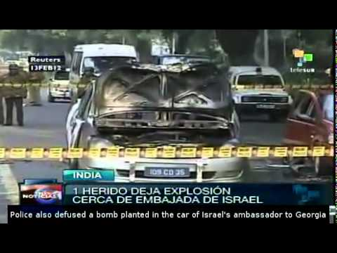 Israel embassies attacked in India and Georgia