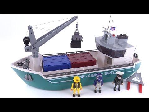 Playmobil Cargo Ship w/ Loading Crane reviewed! set 5253