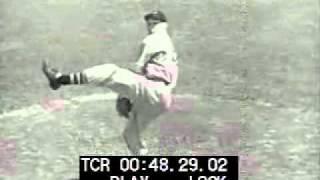 Bob Feller Demonstrates Pitching