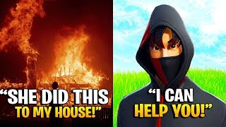 GIRLFRIEND Burned Down His HOUSE, So I Did This... (Fortnite)