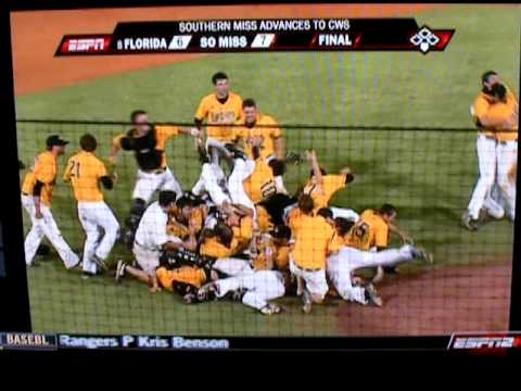 Southern Miss defeats Florida to advance to College World Series Video