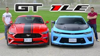 2019 Mustang GT PP2 vs Camaro SS 1LE // Battle Of The Track Packs