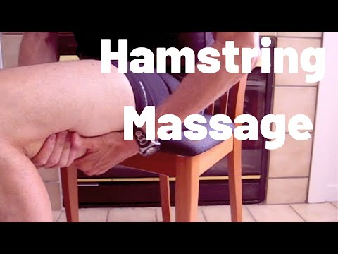 Massage to Loosen Hamstrings Hamstring Massage do it While