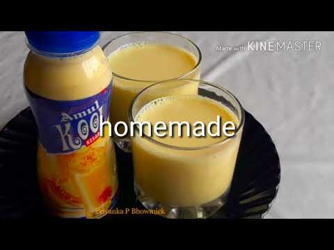 Amul Kool making/cold drink making at home/homemade cool milk