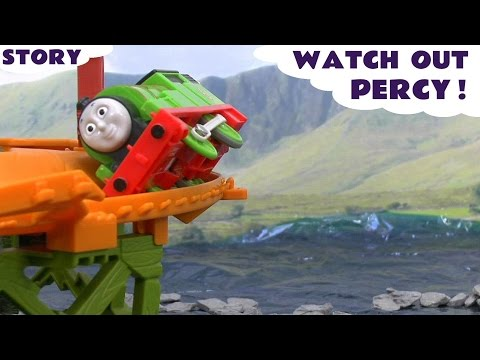 Thomas & Friends Play Doh Minions Crash Accident Story Watch Out Percy Play-doh Thomas Toys video