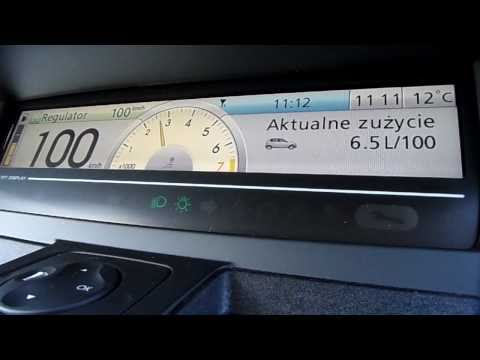 Renault Scenic III 1.4 Tce  Fuel consumption at 100 km / h
