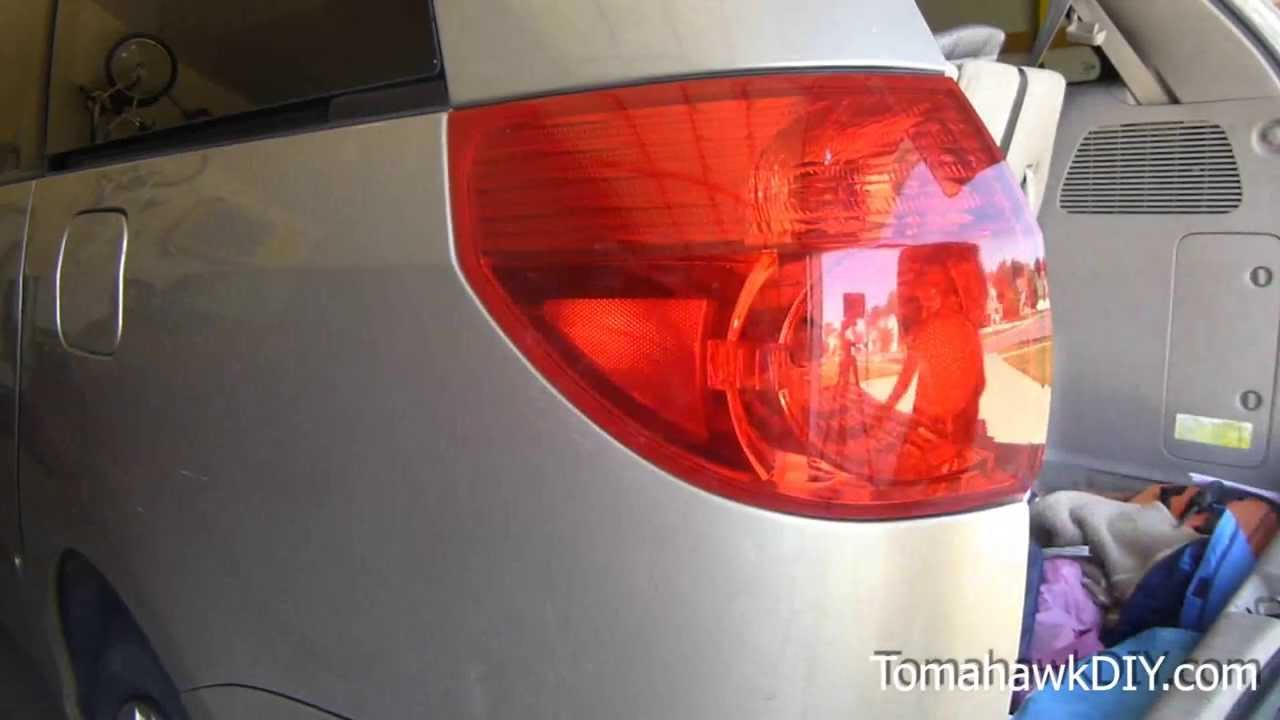 How To Replace Rear Tail Light Toyota Sienna Minivan