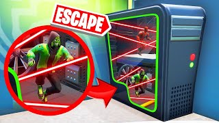 DODGE LASERS To ESCAPE From This COMPUTER! (Fortnite)