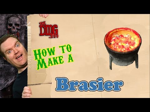 How to quickly craft a brasier for your dungeon tiles in Dungeons and Dragons DMG#132