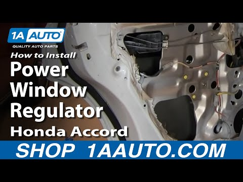 How To Install Replace Rear Power Window Regulator Honda Accord 94-97 1AAuto.com