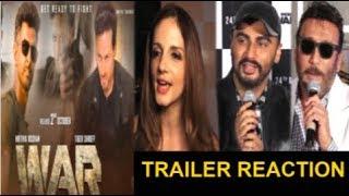 Bollywood Celebs REACTION On Hrithik Roshan & Tiger Shroff's WAR Movie Trailer