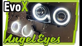 Mitsubishi Evolution X Angel Eyes from Oneighty NYC - LED Tech Review