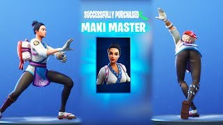 *NEW* MAKI MASTER SKIN WITH THICC DANCE EMOTES 😍❤️