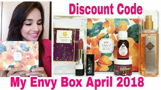 My Envy Box April 2018   Unboxing & Review   Discount Code  