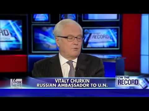 Russia's UN Ambassador Shuts Down FOX News War Propoganda Against Syria