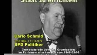 """Bundesrepublik ist ein """"Staatsfragment"""" und die Grenzen müssen offen bleiben..- Rede con Carlo Schmi"""