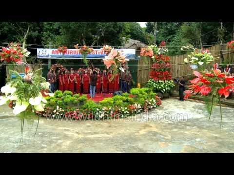 Mizo song presented by choir group of Mizoram