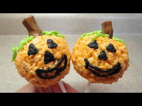 Jack-O'-Lantern Rice Krispies Pops