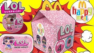 LOL SURPRISE SERIES 4 MCDONALDS HAPPY MEAL! | LOL Decoder + LOL Surprise Under Wraps DIY Happy Meal!