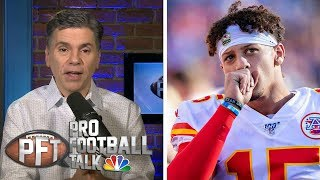 More likely: Patrick Mahomes solves Patriots' D or fails? | Pro Football Talk | NBC Sports