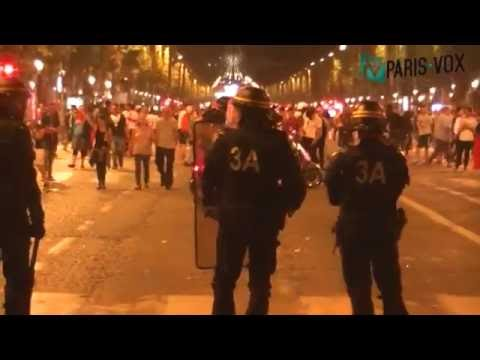 Incidents à Paris - Finale De L'Euro 2016 - Paris Vox