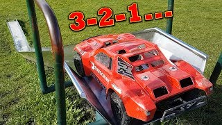EPIC RC Car Playground - Traxxas Slash 4x4  VS TRX-4
