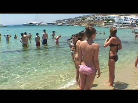 Mykonos Greece: Platys Gialos Beach