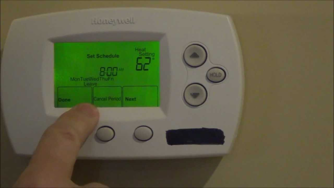How To Program Your Thermostat - Honeywell Focuspro Th6000 Series