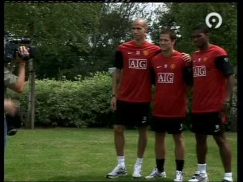 Presentation Antonio Valencia, Michael Owen, Gabriel Obertan (Manchester United)