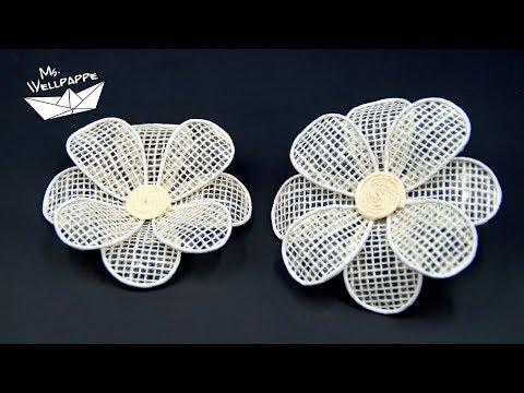 04:08 Blumen Aus Juteband Basteln   Schöne Deko Selber Machen   DIY