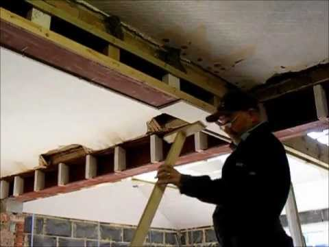 How To Plaster Board A Steel Beam Youtube