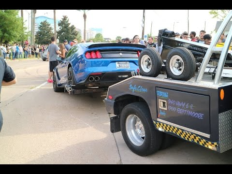 Houston Cars and Coffee Shelby Mustang GT350 Crash!!!
