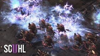 Neeb's Defense vs Mass Nydus Worm - Starcraft 2: Neeb vs Lambo