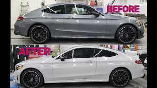 Vinyl Wrapped A 2019 Mercedes C43   Showing Inlays!