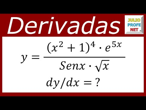 Ejercicio sobre derivación logarítmica-Exercise on a logarithmic derivation
