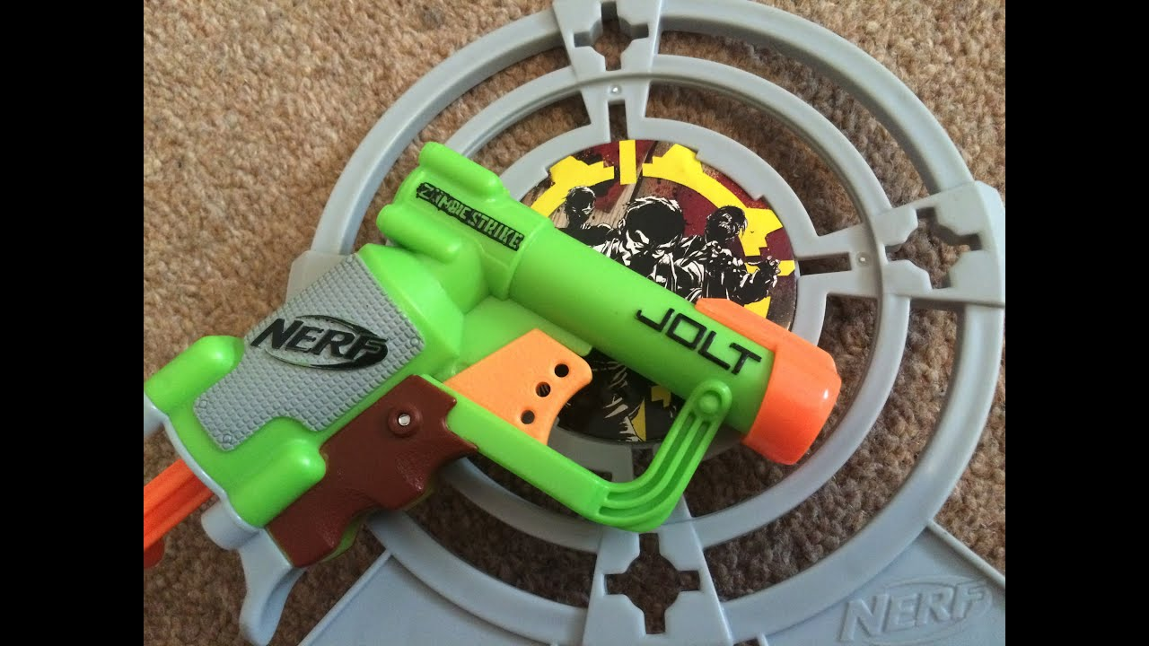 Nerf Zombie Strike Target Set Jolt Unboxing Amp Review