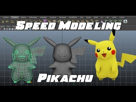 Speed Modeling Pikachu in Maya
