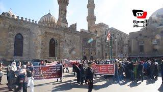 حركة أقباط «أخويا المسلم» تحتفل بالمولد النبوي أمام جامع الأزهر
